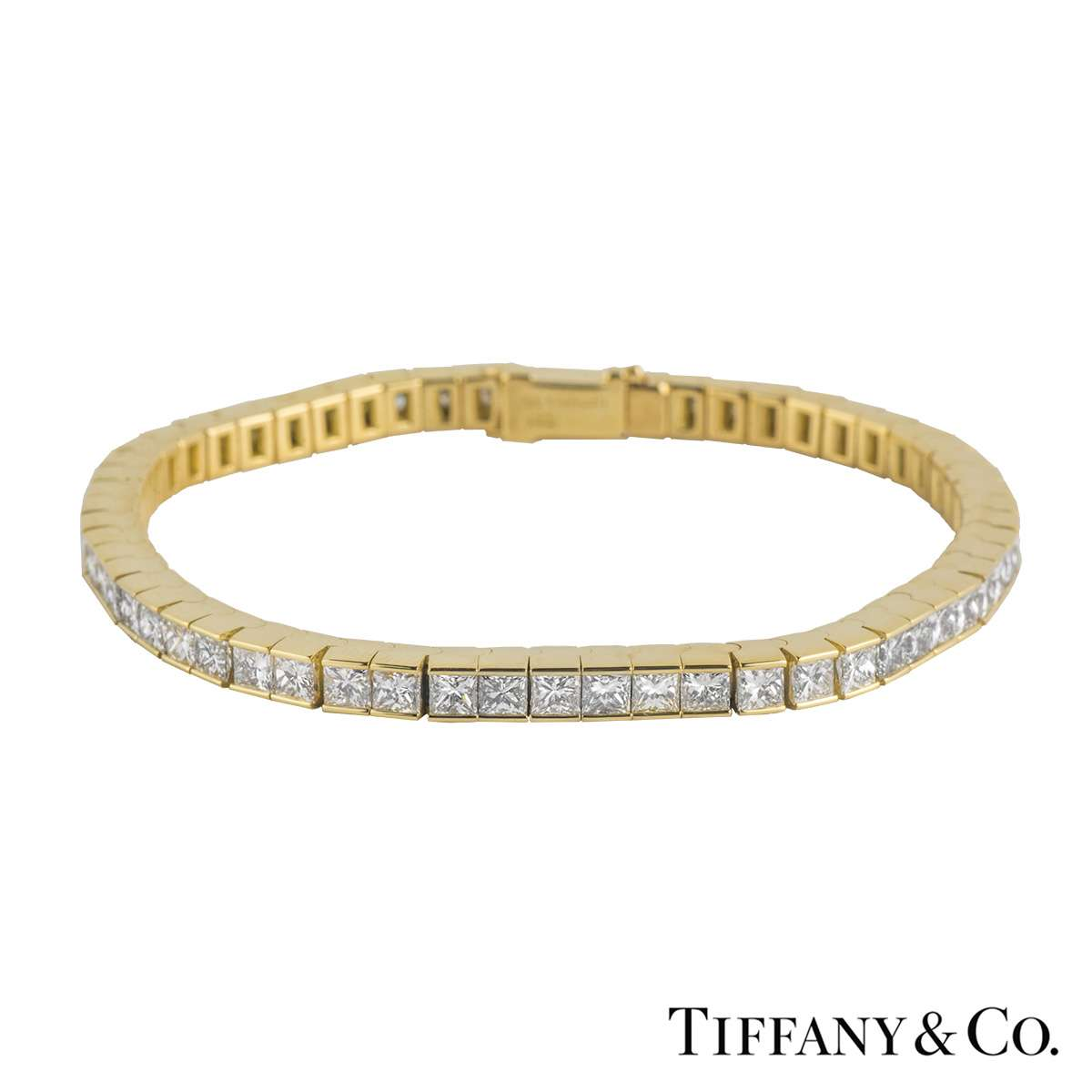 46b972f97 Tiffany & Co 18k Yellow Gold Diamond Line Bracelet 15.00ct
